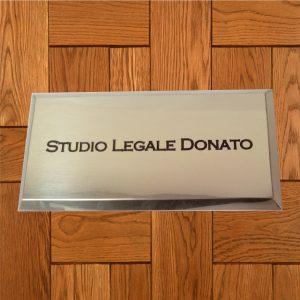 targa ottone scatolato studio donato