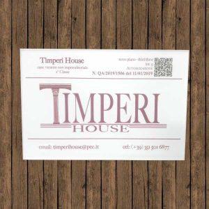 targa plexi bianco timperi house