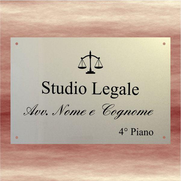 targa avvocato plexiglass oro