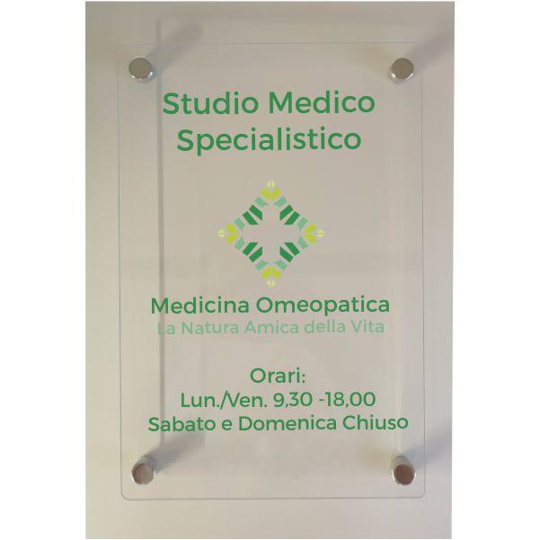 targa studio medico plexiglas trasparente