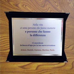 targa ricordo persone che fanno la differenza