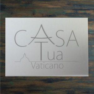 targa alluminio casa tua vaticano