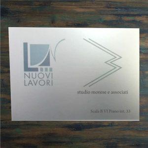 targa alluminio studio morese